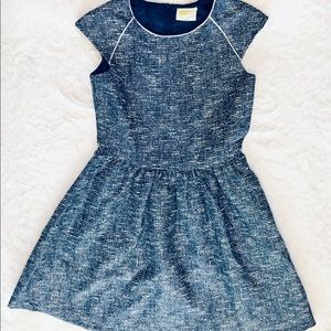 Navy and Silver Party Dress